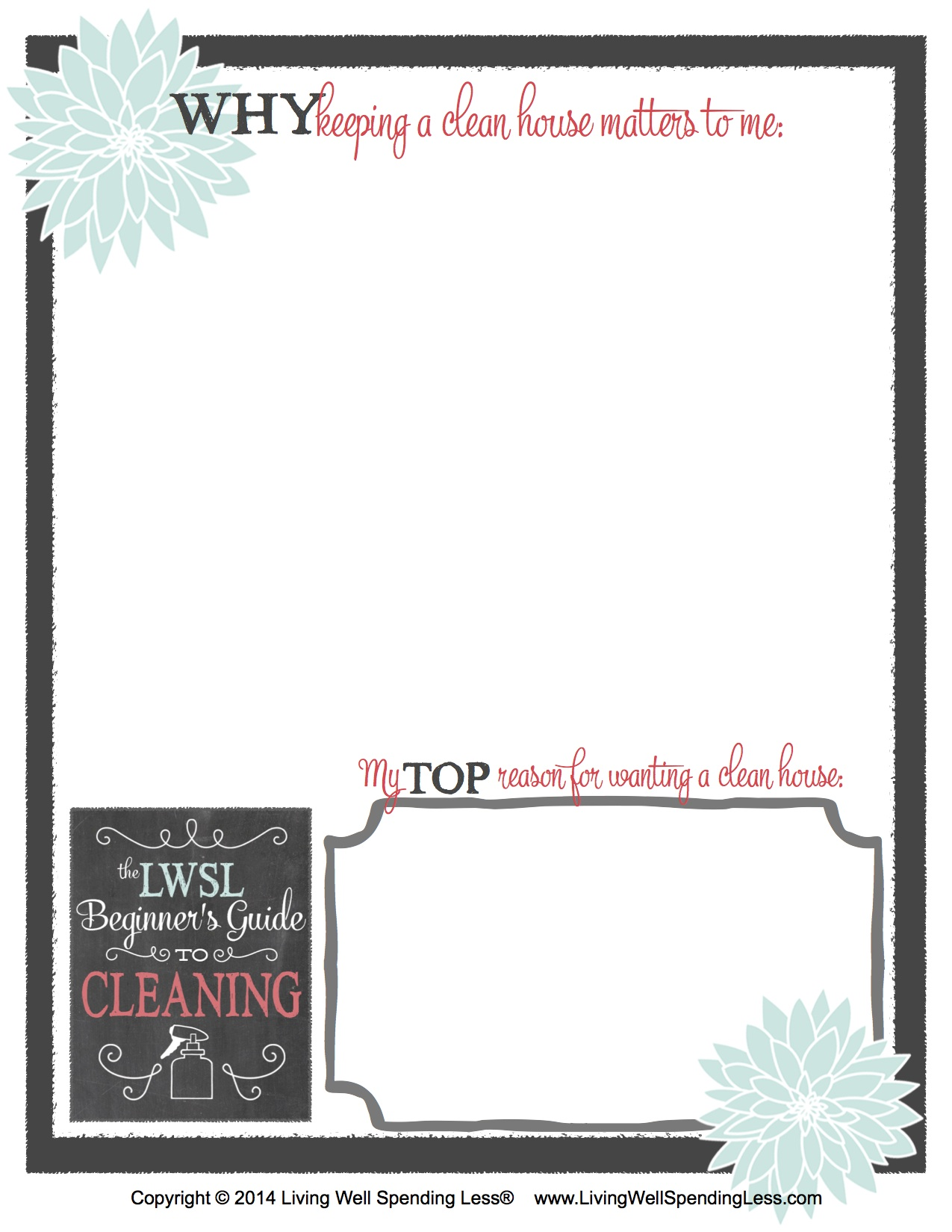 Beginner S Guide To Cleaning Worksheet 1