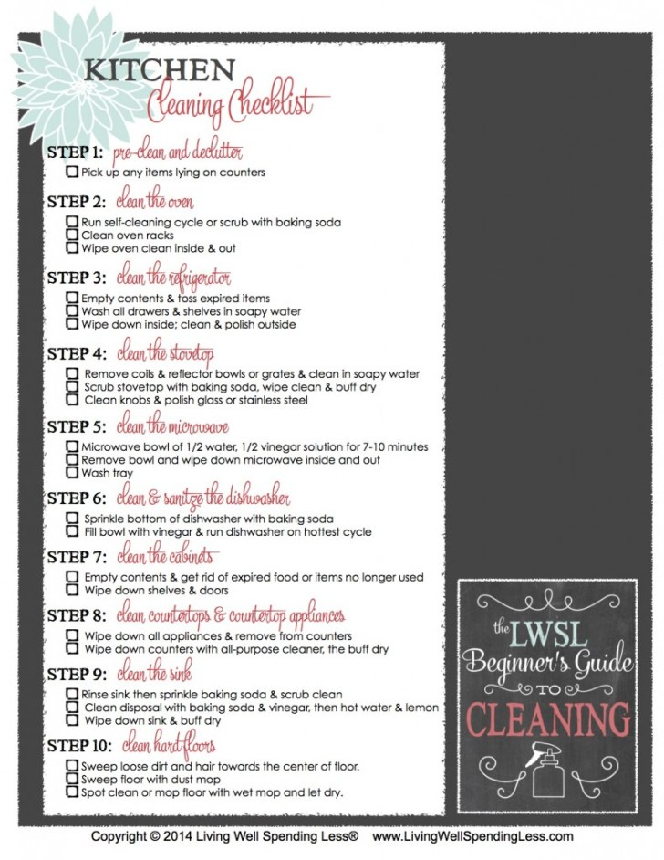 Get Your Printable Kitchen Cleaning Checklist Here