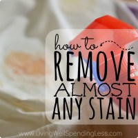 How To Get Rid Of Almost Every Stain | Stain Remover Ideas ...