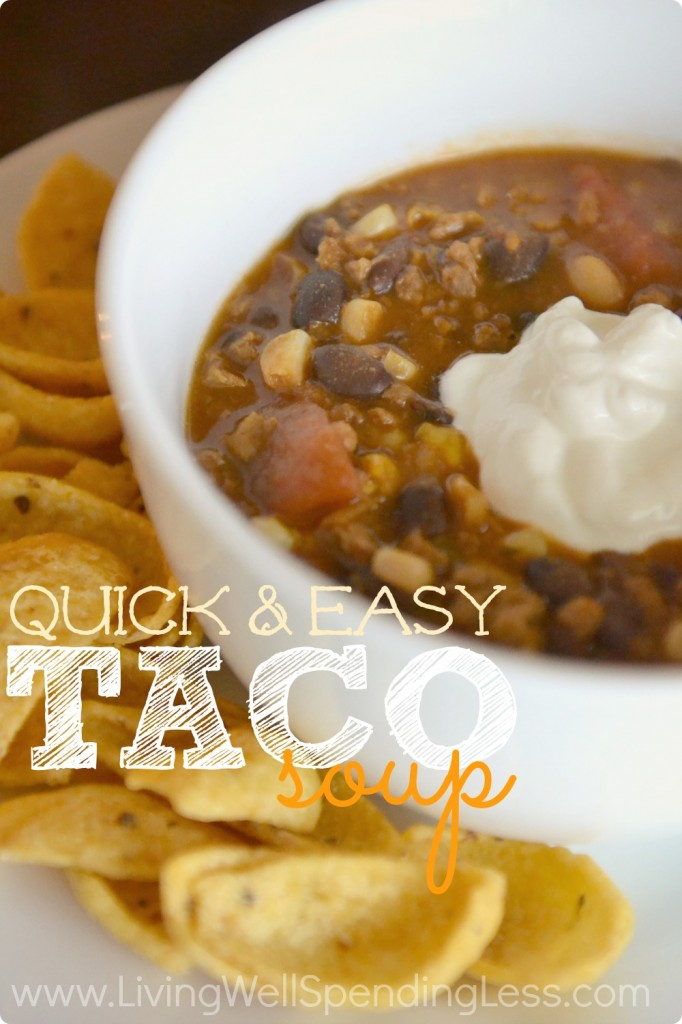 Quick and Easy Taco Soup  Living Well Spending Less