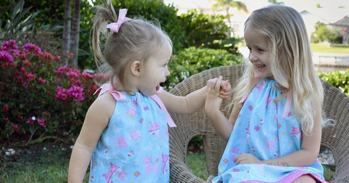 how to make a kids pillowcase dress