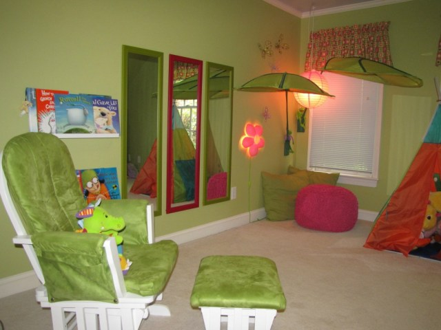 activity areas in a playroom