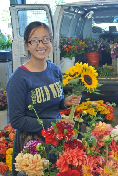 Summer Fresh Flowers booth at Piedmont Triad Farmers Market