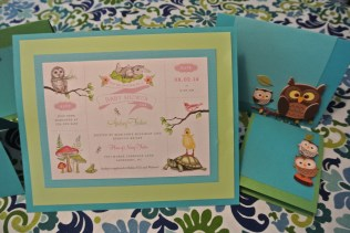 Woodland Animals baby shower invite