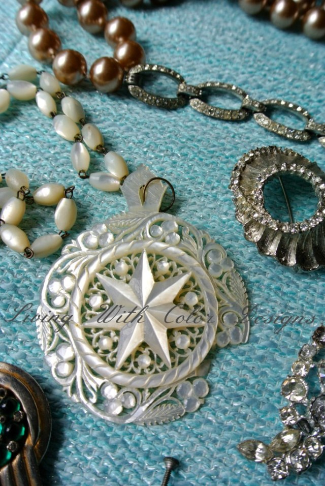broken vintage necklace livingwithcolordesigns.com
