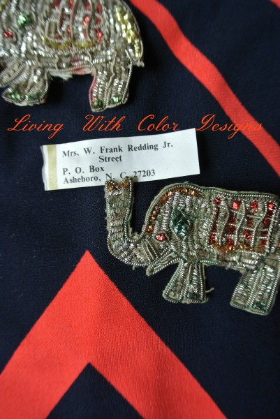 vintage beaded elephant pin livingwithcolordesigns.com