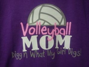 Volllyball Mom Shirts by Southern Style- Living With Color Designs