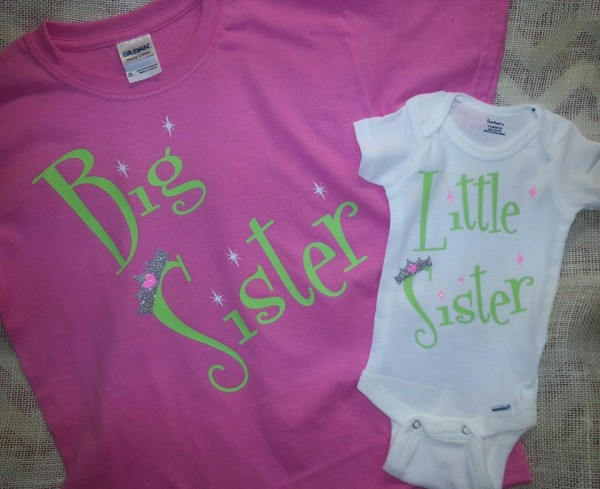 Big Sister Little Sister Shirts by Southern Style- Living With Color Designs