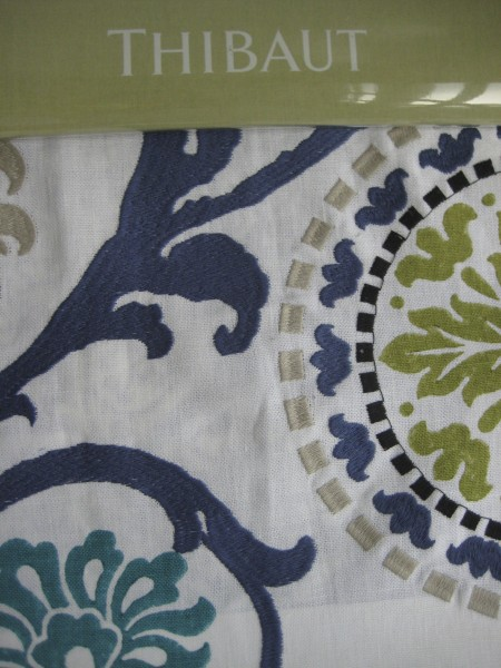 Banyan Embroidery by Thibaut- Living With Color Designs