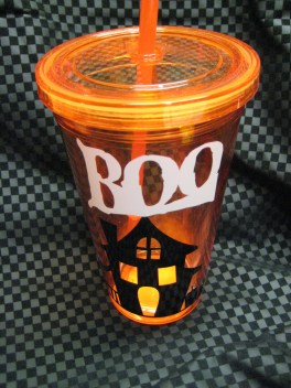 Halloween insulated cups by Southern Style- Living With Color Designs