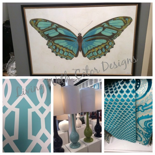 Aqua inspiration board- Living With Color Designs