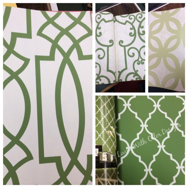 Inspiration Board Greeen Trellis  Inspired Wallpapers- Living With Color Designs