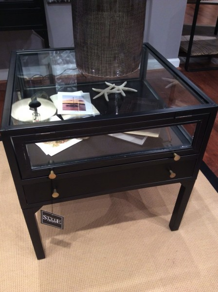 Curio side table with drawers.- Living With Color Designs