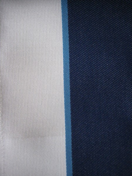 Navy Strip Outdoor Fabric - Living With color Designs