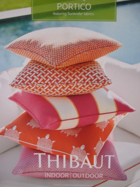 Pink and Orange Outdoor Pillows - Living With color Designs