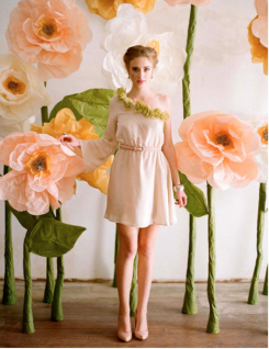 Inspiration photo from Design Sponge of DIY large flowers.