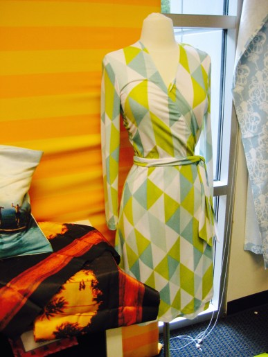 The Spoonflower Wrap Dress project- Living With Color Designs Blog