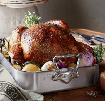 Sur le table roasting pan- bring on the holidays- Living With Color Designs Blog