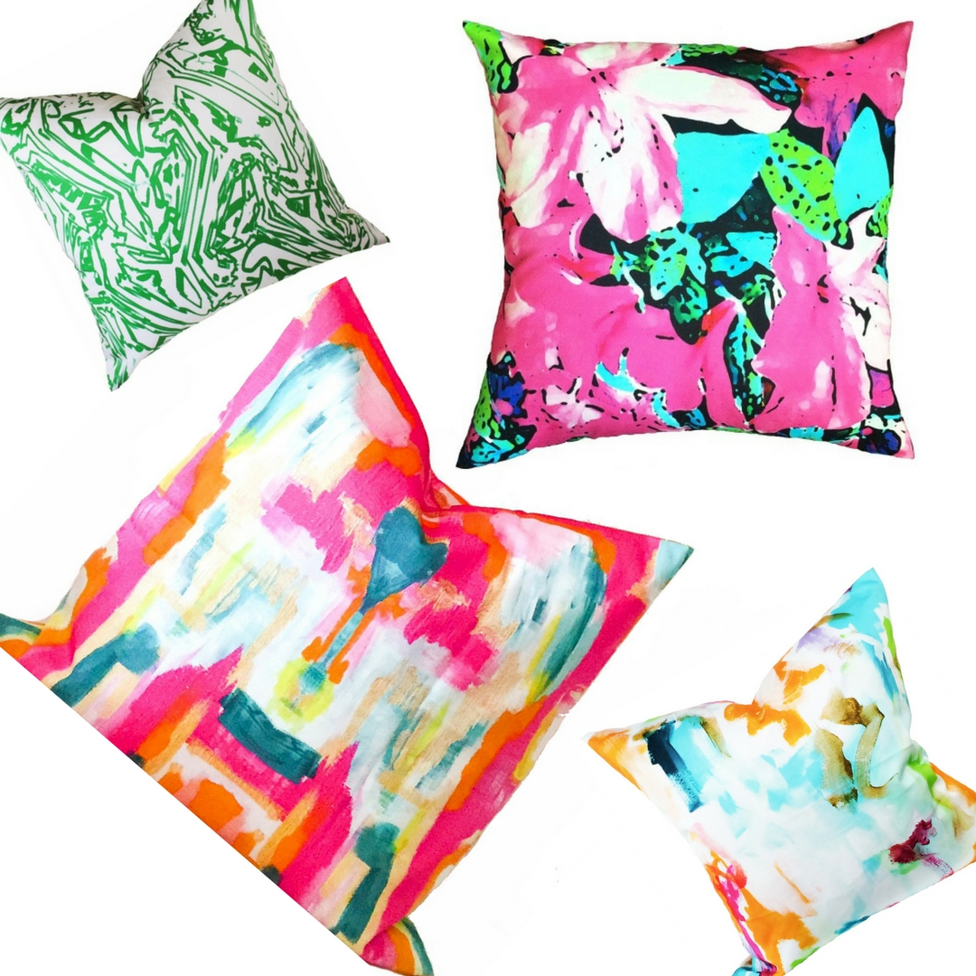 Designer pillows in vibrant colors -The Color Boutique: Living With Color Designs