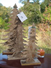 Chartreuse Barn Sale- rustic cutout wooden christmas trees