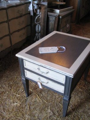 Chartreuse Barn Sale- Chalk pint end table