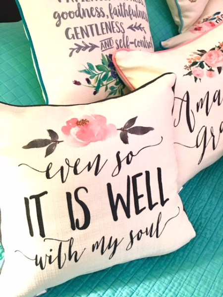It Is Well and Amazing Grace Pillows