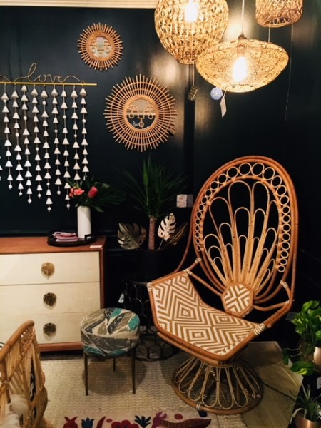 Zahra Modern Rattan Peacock Chair - Justina Blakeney Rocks Our Bohemian World by Living With Color Designs Blog