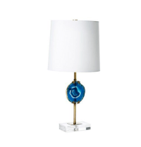 Remy Agate Table Lamp, Blue   AH HOME