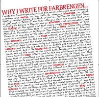 Why I Write For Farbrengen