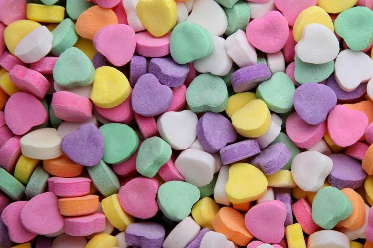 Candy Hearts Sweet Colourful