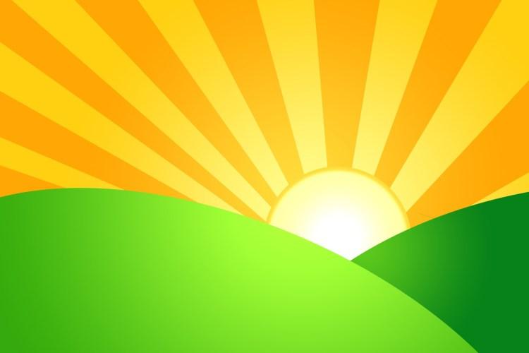 Sunrise Over Green Hills (1)