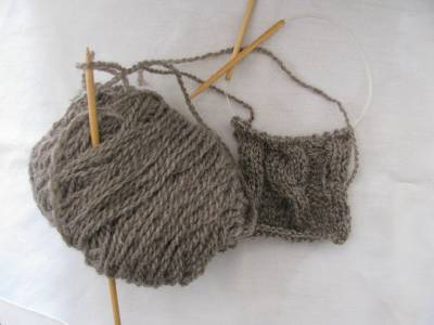 One Skein of Yarn and One Pair of Knitting Needles-Cables