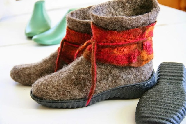 Wool Felted Boots at Grand View Farm