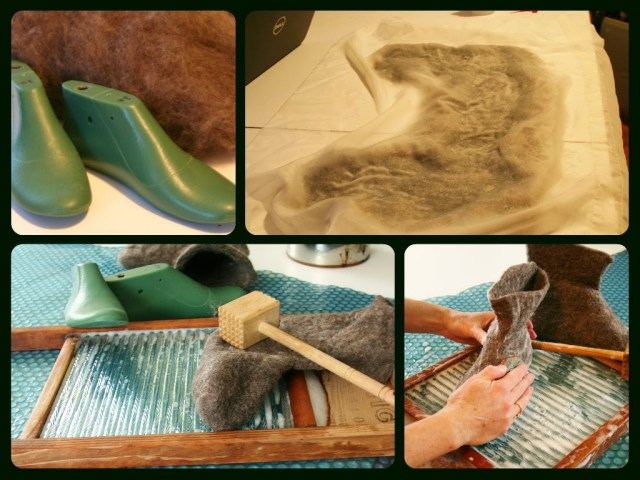 Steps to Making Wet Felted Boots