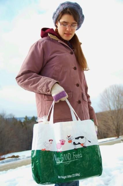 Re-purposed Shopping Bag