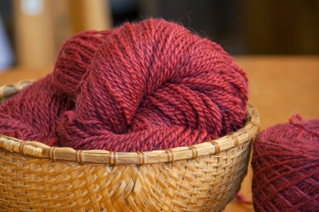 Naturally Dyed Yarn from VT Grand View Farm