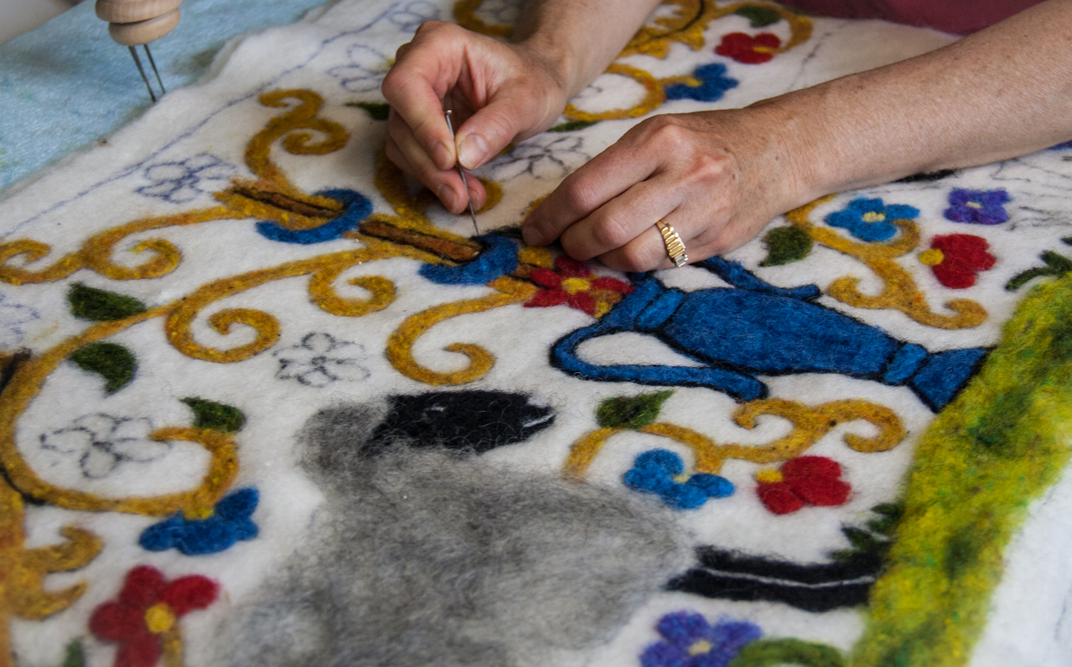 Needle Felting Soothes The Soul Living With Gotlands