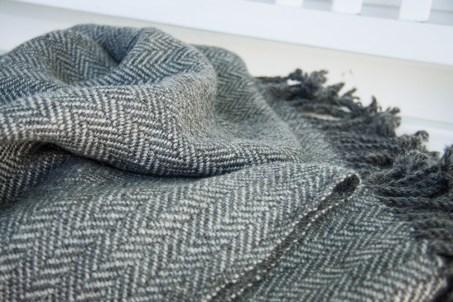 Handwoven Gotland Wool Blanket