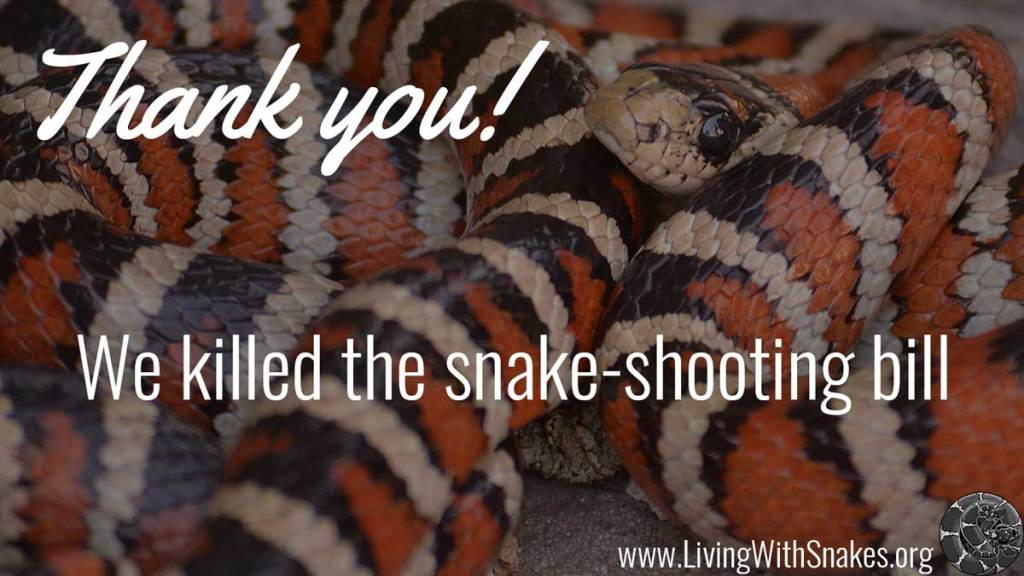 Thank you! We killed the snake-shooting bill