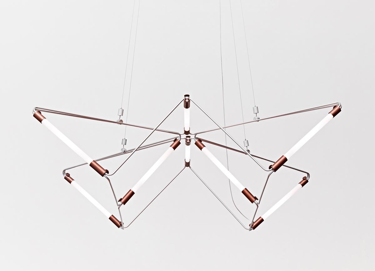 James Dieter's modern lighting fixture ~ The Mobi Lamp