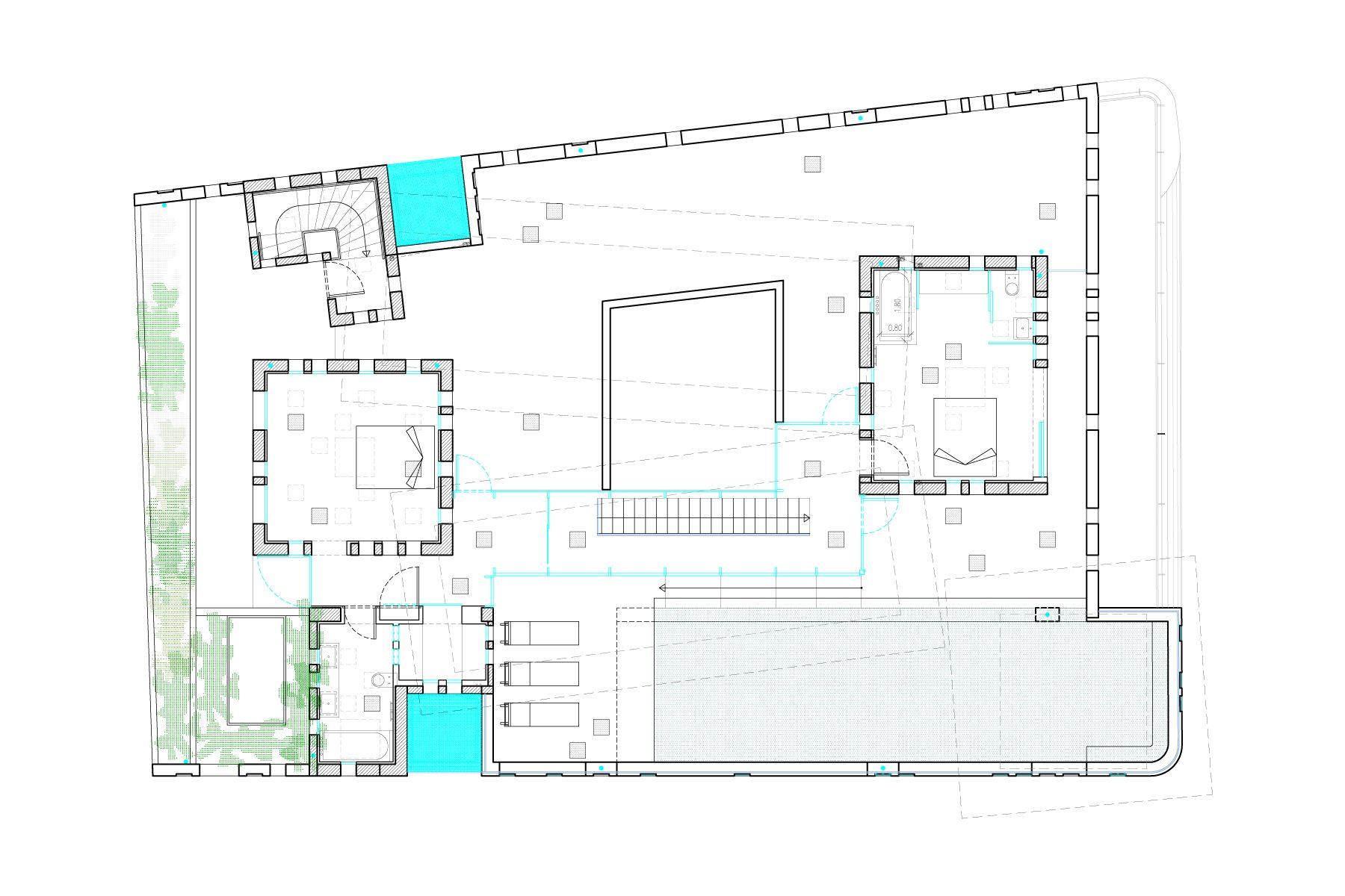 white walls jean nouvel plan 16 roof