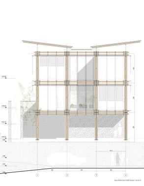 BAMBOO HOUSE _STUDIO CARDENAS7_elevation_sud_ovest