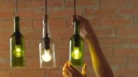 DIY: HOW TO MAKE WINE BOTTLE PENDANT LIGHTS | livin spaces