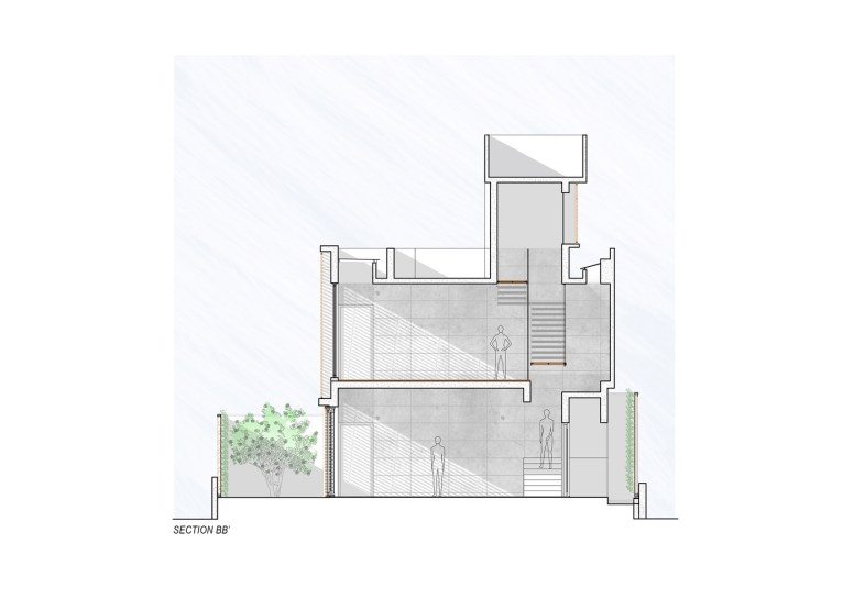 Badri Residence SECTION_BB'_Architecture Paradigm