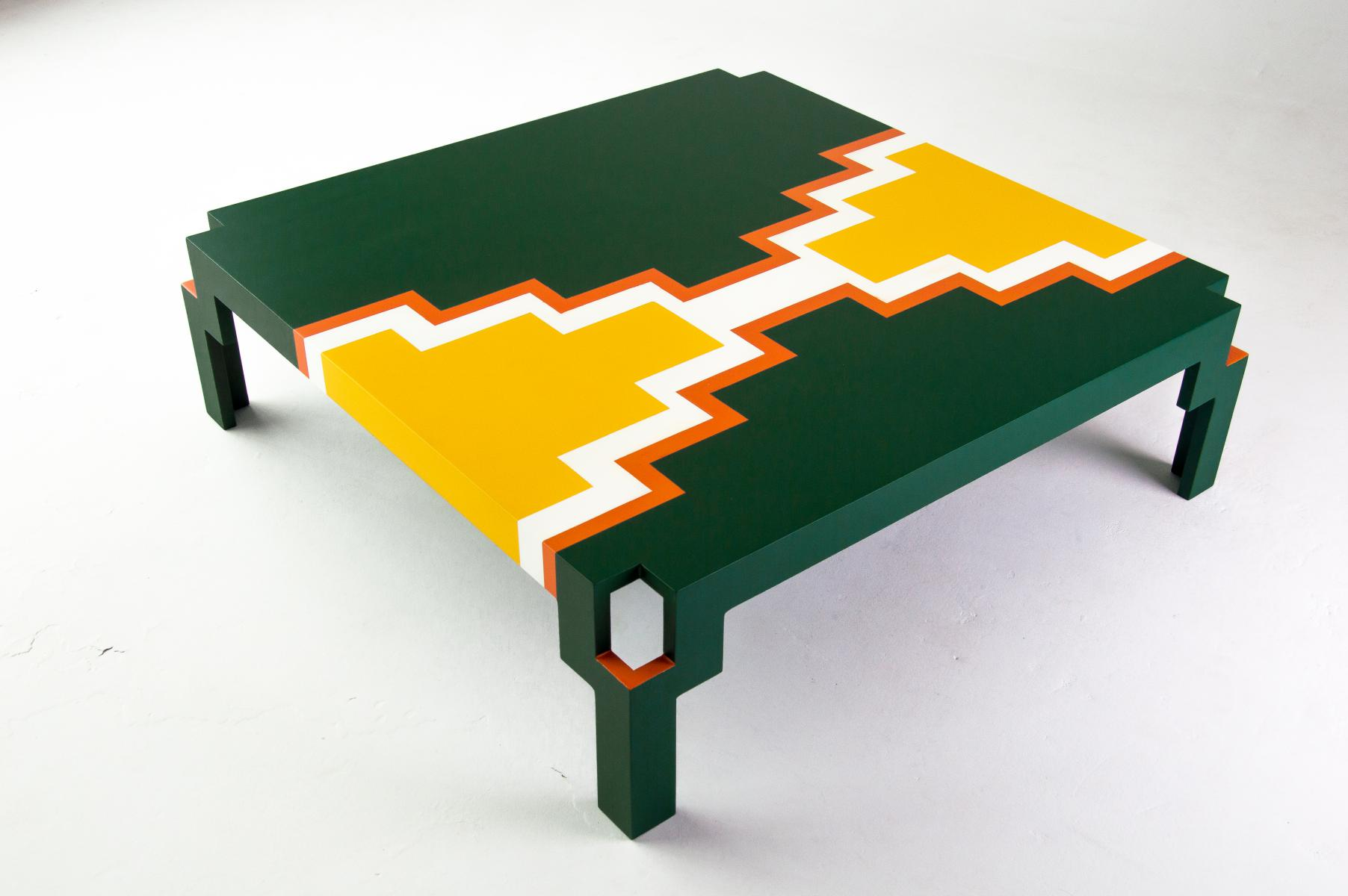 Her U201cistegetsaneu201d Zig Zag Style Is Greatly Referenced In This Bold And Colourful  Coffee Table.