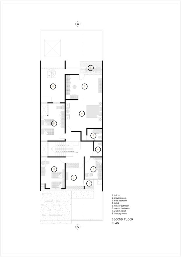 House as Tree of Life_3._Second_Floor_Andryahman Architects