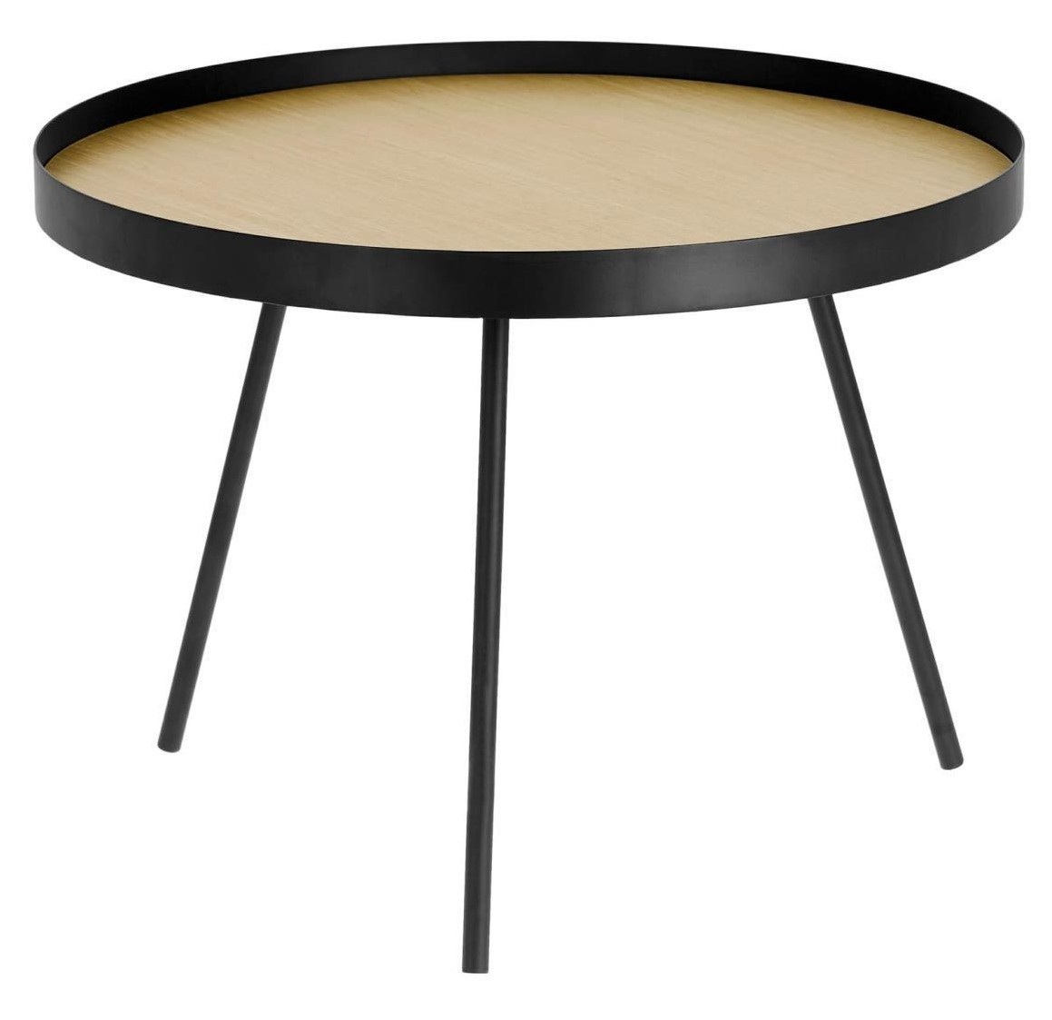 asal round coffee table o60 black metal