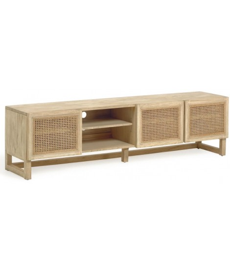 https www livitalia it fr accueil 4184 ivrose meuble tv 180 cm en bois massif et portes en rotin de style colonial rustique html