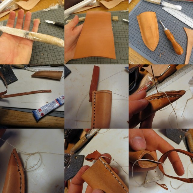 stitching puukko sheath