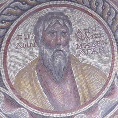 Suweydie, mosaic o/t Seven Sages, Solon